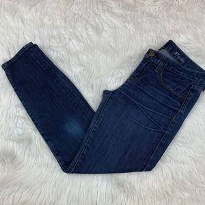 J. CREW Women's Toothpick Skinny Ankle Jeans Blue